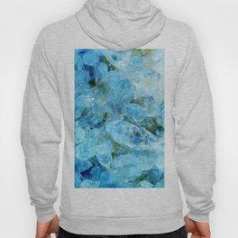 Aqua Blue Geode Crystal Hoody