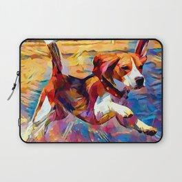 Beach Beagle Laptop Sleeve