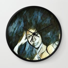 Afro Sketch Wall Clock