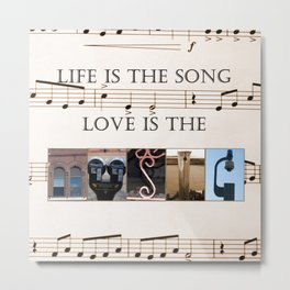 Love of Music Metal Print