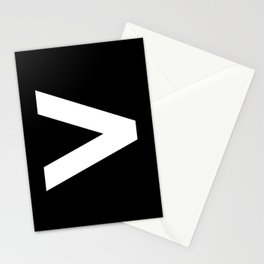Greater-Than Sign (White & Black) Stationery Cards