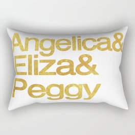 Eliza Schuyler Hamilton and her Sisters Angelica and Peggy Rectangular Pillow