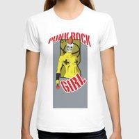 punk rock T-shirts featuring Punk rock Girl by Caetanorama Art Studio