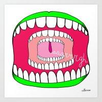 Scream AAARGH! Art Print