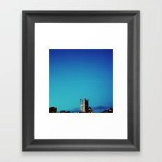 blue pittsburgh.  Framed Art Print