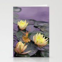 tinker bell Stationery Cards featuring tinker bell & tiger lilies by EnglishRose23