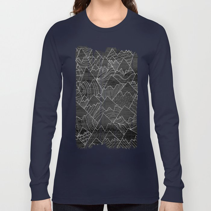 Paintbrush Mounts Long Sleeve T-shirt