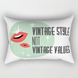 Vintage Style not Values midcentury retro pin up Rectangular Pillow