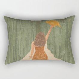 A Way Through the Cactus Field Rectangular Pillow