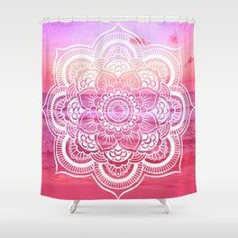 Water Mandala Hot Pink Fuchsia Shower Curtain