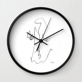 Demeter Moji d11 4-3 w Wall Clock