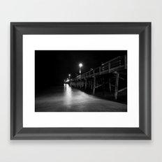 Newport Pier Framed Art Print