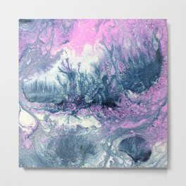 Dark Grey & Pink Abstract IV Metal Print