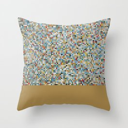 Square Mosaic Multi-coloured Tile Pattern (Photograph) Throw Pillow