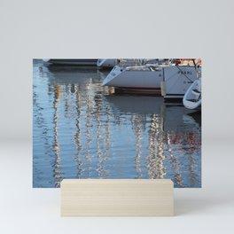 Yacht Harbor Water Reflection Mini Art Print
