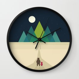 Long Journey Wall Clock