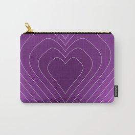 Nurturing Heart Purple Love Design Carry-All Pouch