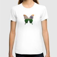 india T-shirts featuring india butterfly by Steffi Louis