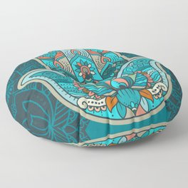 Hamsa Hand of Fatima, good luck charm, protection symbol anti evil eye Floor Pillow