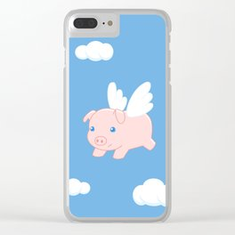 Flying Pig Clear iPhone Case