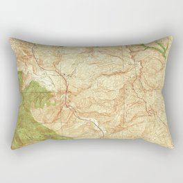 Beartrap Canyon, CA from 1938 Vintage Map - High Quality Rectangular Pillow