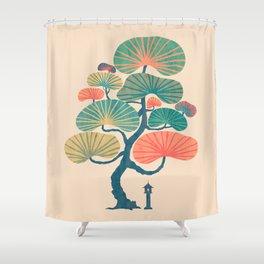 Japan garden Shower Curtain