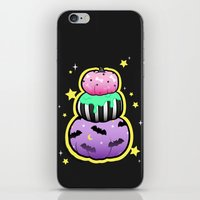 pastel goth iPhone & iPod Skins featuring Pastel Goth Pumpkin Stack by MagicCircle