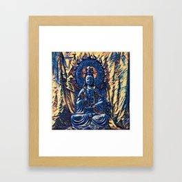 Glass temple of Marcy  Framed Art Print