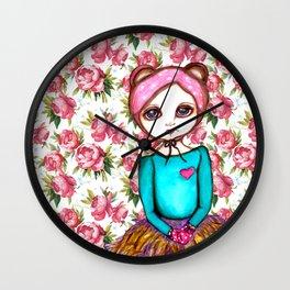 Bear Girl Wall Clock