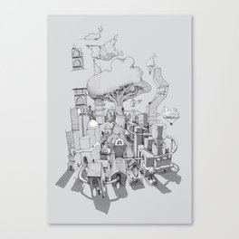 Impossible City Canvas Print