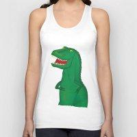 t rex Tank Tops featuring T-Rex by Yana Elkassova