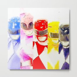 Power Rangers Metal Print