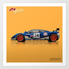 McLaren F1 GTR #02R - 1995 Le Mans 4th place - Side View Art Print