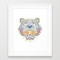 kenzo Framed Art Prints featuring KENZO Tiger by cvrcak