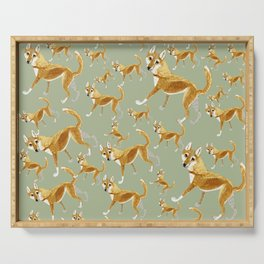 Ginger dingo pattern Serving Tray