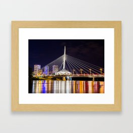 Winnipeg Provencher Bridge 2015 Framed Art Print