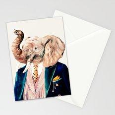 Elephant Cream Stationery Cards