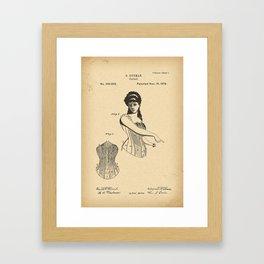 1878 Patent Corset Framed Art Print