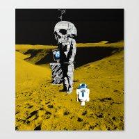 walk the moon Canvas Prints featuring Moon Walk by Marko Köppe