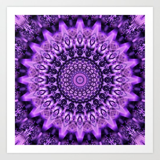 Mandala decidedness Art Print