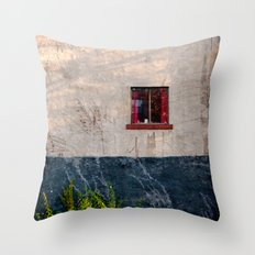The Red Window Throw Pillow