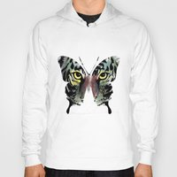 butterfly Hoodies featuring butterfly  by mark ashkenazi