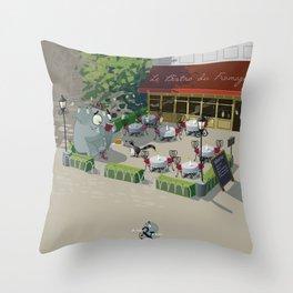 Mr. Elephant & Mr. Mouse 'Bistro' Throw Pillow