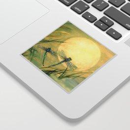 Dragonfly Moon  Sticker
