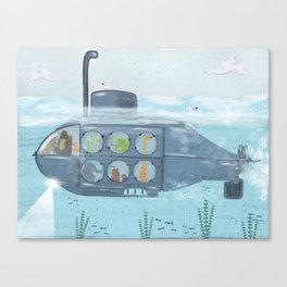 nautical explorers Canvas Print