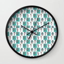 Checkered Mimes Wall Clock