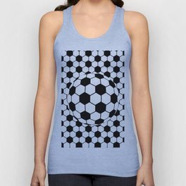 Black and White 3D Ball pattern deign Unisex Tank Top