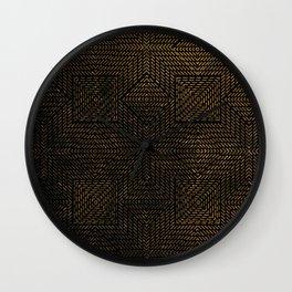Gold Optical Illusion Pattern Wall Clock