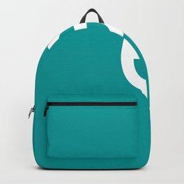 LETTER e (WHITE-TEAL) Backpack
