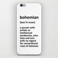 bohemian iPhone & iPod Skins featuring bohemian by bohemianizm